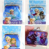 1pc retail cute cartoon  Frozen Bag Wallets Coin Purses Anna Elsa Hans Sven Olaf baby children purse gift bag accessories