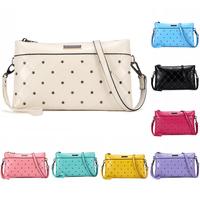 New Arrival Rivet  Design Napa Leather Handbags Women Evening Clutch Bag Messenger Shoulder Bags Purse with Belt Small Bags A110