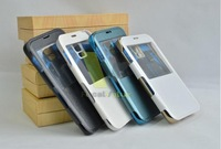 4 Color! High Quality 3500mAh Backup Battery Charger case With View Window For Samsung Galaxy S5 I9600 Free Shipping 150pcs