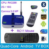 CS928 2G  /16G Android 4.4 Quad Core RK3288 TV BOX  2.4G/5G Wifi  HDD Player W/ 5 MP Camera Bluetooth 4.0 RJ45 + RC11 Air mouse