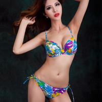 Women's Swimwears Bikini Set Fashion Steel bracket together Swimsuit Big chest DE cup Sexy VS Secret 2014 New