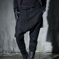 Male hanging crotch pants personality harem pants skinny pants of alcoholicity men punk style trousers