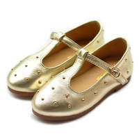 2014 autumn new head layer sheepskin leather shoes princess large European and American girls 26-36 yards grant