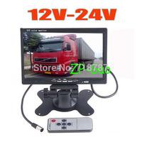 "7"" LCD Car Rearview Monitor 2CH Video input For DVD & Reversing Camera 12V-24V  10pcs/lot"