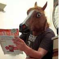 2014 new Free shipping Creepy horse's head makeup party mask actor's headgear Animal head for Halloween Christmas Costume