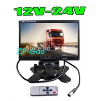 "7"" LCD Car Rearview Monitor 2CH Video input For DVD & Reversing Camera 12V-24V  Free Shipping"