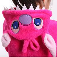 2014 New Children's Cute Soft Flannel Sleepwear Cartoon Girl's Animal Image One Piece Sleepwear Lovely Lounge Pajama Sets