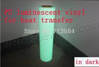 DISDISCOUNT 1 meter luminescent vinyl for t-shirt heat transfer press cutting plotter watch in dark 0.5x1m flow in dark