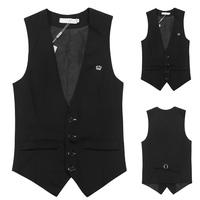 Men's Vest Jackets Fashion Slim Vest 2014 New Man casual Outwear Black V-neck tank tops Waistcoat undershirt beer singlet Coats