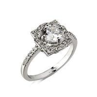 Italina Prong Setting Zirconia Wedding Rings Fashion Women Jewelry