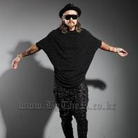 2014 man spring autumn short t-shirt fashion 100% cotton t-shirt casual punk tees & tops