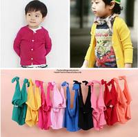 Baby boy kids girl Children Coat Autumn Outerwear Candy Cardigan