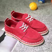 2014 autumn casual round toe lacing falts fashion flat heel single shoes Moccasins women's shoes