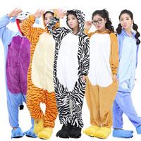 2014 New Lovers Paw Flannel Cartoon Pajama Sets Women Animal Image One Piece Sleepwear Man Cute Derlook Coral Soft Sleerwears
