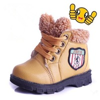 2014 new fashion Kids children winter boots Boys and Girls baby toddler shoes cotton-padded shoes snow boots 697