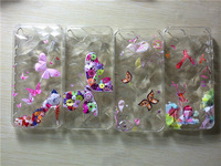 10 Pieces/Lot  With 3D Diamond Figures Of Flowers & Butterfly Prints Phone Cover Cases For Iphone 5s 5/Soft TPU Plastic Material