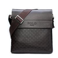 2014 New Mens polo bag PU leather Men Messenger bag leisure bag men's briefcase Fashion Men's shoulder business Bag High Quality