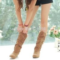 Hot Sale autumn winter woolen lady snow boots for women casual botas femiinas suede snow boots black orange brown women boots 03