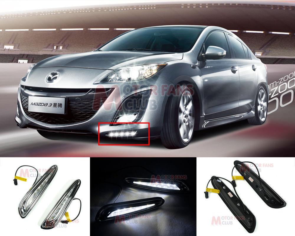 hot sale LED Daytime Running Light For Mazda 3 Axela Car Fog Lamp DRL 2010 2011 2012 2013 for free shipping(China (Mainland))