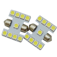 2pcs/lot 31mm 269 9 SMD Xenon White SMD LED Festoon Bulb 12V