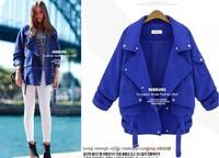 Hitz CBRL solid sheet loose code Parka Coat Lapel coat