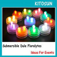 11 Colors Dual LED Submersible Floralyte Flower Arrangments Light