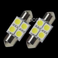 2pcs/lot  31mm 3175 C5W Interior Festoon 4 SMD LED Bulb White