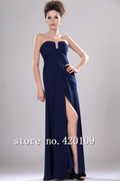 free shipping off the shoulder cheap chiffon A-line prom dress custom made strapless designer dress 2014 new arrival