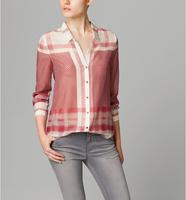 blusas femininas2014 women blouse plus size shirt women cotton plaid blouse casual roupas femininas free shipping to brazil