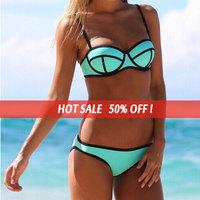 Hot  Neoprene Sexy Bikinis Set  Vintage Triangle Swimwear Bikini brazillian Bathing Suit Maillot De Bain