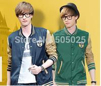 Free drop shipping Men's fashion casual stand-collar Varsity jackets baseball coat cardigan Sweatshirts