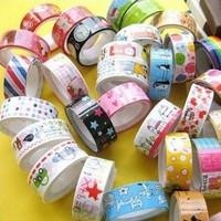 10pcs Lovely Kawaii Cartoon Adhesive Tape Washi Scrapbooking PVC Sticker Gift