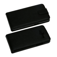 For Samsung Galaxy Core 2 G355H PU Flip Plain Leather pouch smooth black purse new arrival 1pcs