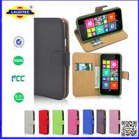 200pcs/lot Premium Luxury PU Leather Wallet Case Cover for Nokia Lumia 530 Phone Accessory Laudtec