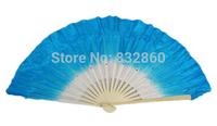 Free shipping 30pcs/lot 10% discount silk fan,dance fan for lady royal blue color