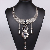 2014 High Quality Vintage Bohemia jewelry Sliver Plated  Necklace Set QDXAA