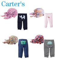1Set Newborn Cotton carters Baby pants harem pant Baby PP Pants Trousers Baby boy girl Cute cartoon pp pant&hat baby leggings