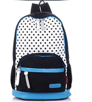 Canvas male female polka dot backpack student school bag casual travel backpack cool kids designer backpacks Wholesales Cheap