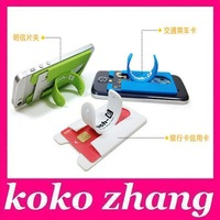 10pcs  Portable Touch C One Touch Silicone Stand Holder with Earphone Winder for iPhone 5 5s 6