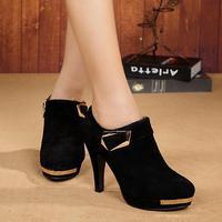 Ankle Boot Genuine Leather Elegant England Style Vintage London Women High Heel Pump