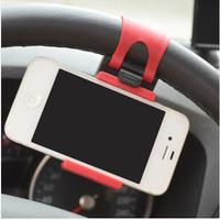 Universal Car Steering Wheel Mount Holder Bike Clip For iPhone GPS Mobile Phone Holders, Support Smartphone Navigation