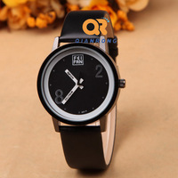 Fashion items leather band watches Men women sports quartz watches with colorful partten Electronic 2014 Modern cartoon watch