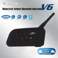 Free shipping 2 x BT 1200M Motorcycle Helmet Bluetooth Intercom Headset Connects upto 6 riders support GPS/MP3 from Vnetphone