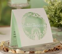 Mint Green Bride&Groom Laser Cutting Wedding Invitations----CW006