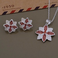 3 colors! women set silver 925 zircon jewelry set, woman jewelry sets for women China wholesale price free shipping AT547