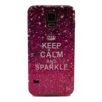 Keep Calm and Sparkle Pattern TPU Soft Case Cover for Samsung Galaxy S5 I9600
