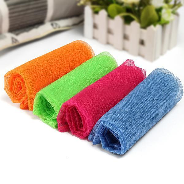 2PCS Bathroom Bath Shower Body Cleaning Wash Exfoliating Scrubbing Towel Nylon Cloth(China (Mainland))