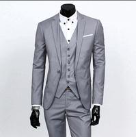 Business casual suit Men two pieces set Professional formal Groom wedding dress Beautiful design Five colors
