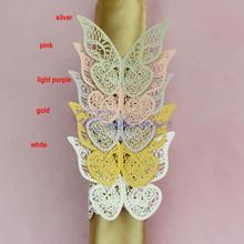 Drop SHIPPING novo 12 Pcs 5 cores anéis de guardanapo borboleta casamento titular Favor nupcial do chuveiro(China (Mainland))
