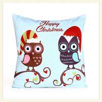 2014 new Creative fashion lovable Cotton embroidery  cartoon Pillow owl Christmas Cushion hw8044